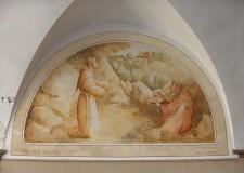 Cristo approva la regola - Lunetta nel chiostro - foto archivio Pro Loco