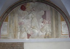 Estasi di San Francesco - Lunetta nel chiostro - foto archivio Pro Loco