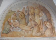 Il transito di San Francesco - Lunetta nel chiostro - foto archivio Pro Loco