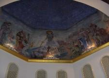 Veduta generale e particolare dei dipinti dell'abside, anno 1960 - foto archivio Pro Loco
